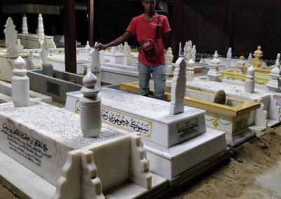 Pemasangan Makam di Raja Langgar 1