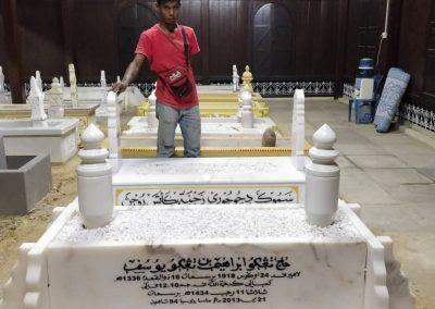 Pemasangan Makam di Raja Langgar 2